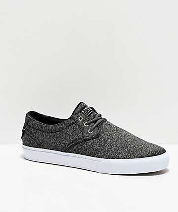 Lakai Daily Black Textile Skate Shoes