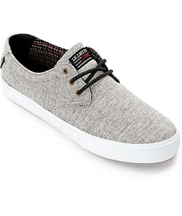 Lakai Daly Heather Grey & Plaid Skate Shoes
