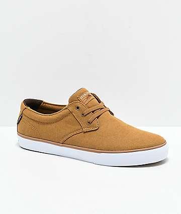 Lakai Daly Tobacco & White Skate Shoes