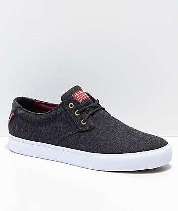 Lakai Daly zapatos de skate de jersey negro