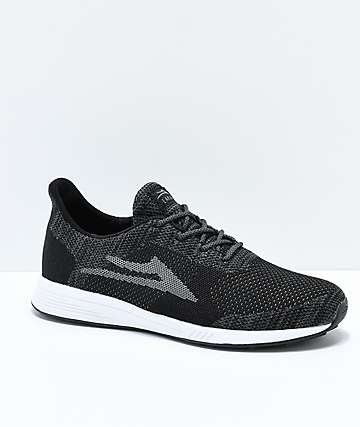 Lakai Evo Black & Grey Woven Knit Shoes