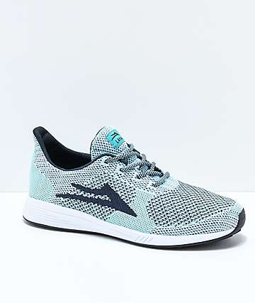 Lakai Evo Pale Blue & Navy Woven Knit Shoes
