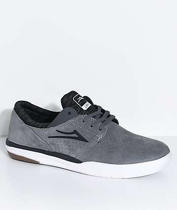 Lakai Fremont Grey & White Suede Skate Shoes