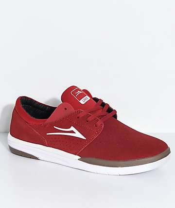 Lakai Fremont Red, White & Gum Suede Skate Shoes