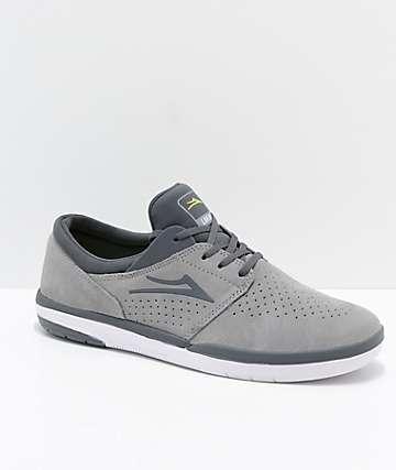 Lakai Fremont zapatos de skate de ante en gris y color carbón