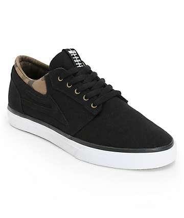 Lakai Griffin Black & Camo Canvas Skate Shoes