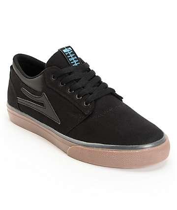 Lakai Griffin Black & Gum Canvas Skate Shoes