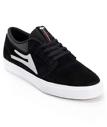 Lakai Griffin Black & White Suede Skate Shoes