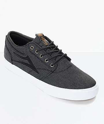 Lakai Griffin Black Textile & White Skate Shoes