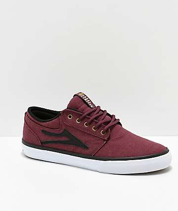 Lakai Griffin Burgundy Textile Skate Shoes