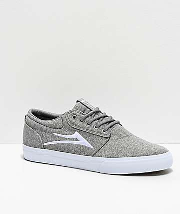 Lakai Griffin Grey Textile Skate Shoes