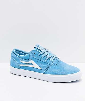 Lakai Griffin Light Blue & White Suede Skate Shoes