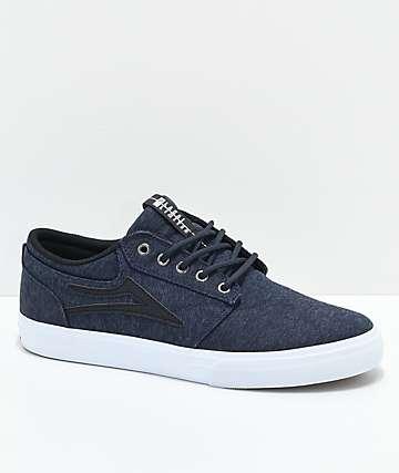 Lakai Griffin Midnight zapatos skate de punto azul marino