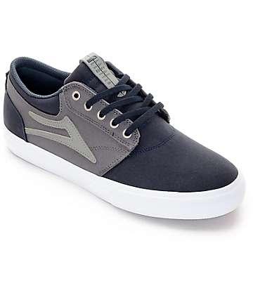 Lakai Griffin Navy & Grey Canvas Skate Shoes
