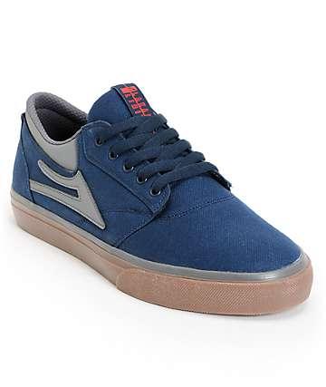 Lakai Griffin Navy & Gum Canvas Skate Shoes