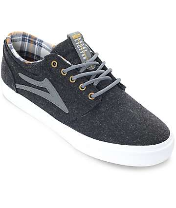 Lakai Griffin Phantom Wool & Plaid Skate Shoes