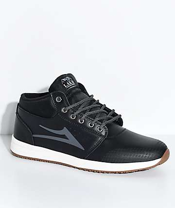 Lakai Griffin Weather Treated Mid Black & White Shoes