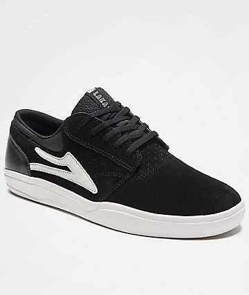 Lakai Griffin XLK Black & White Suede Skate Shoes