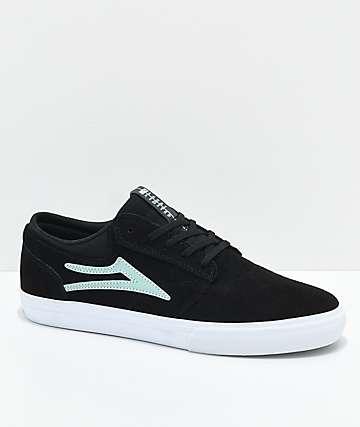 Lakai Griffin zapatos de ante negro y menta