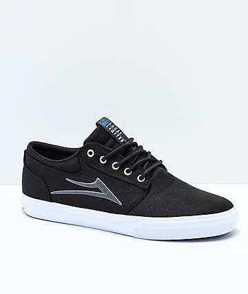Lakai Griffin zapatos de skate de lienzo en negro y blanco