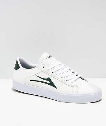 Lakai Newport Pine zapatos skate de cuero blanco