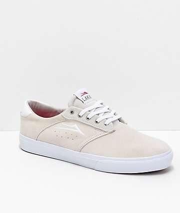Lakai Porter  zapatos de skate de ante blanco
