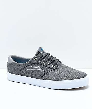 Lakai Porter Charcoal & White Skate Shoes