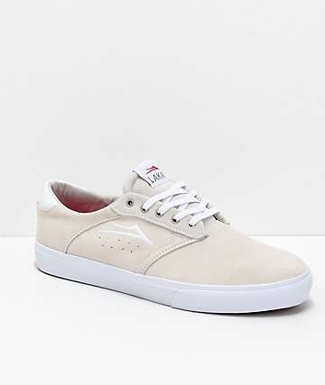 Lakai Porter White Suede Skate Shoes