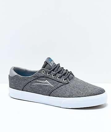 Lakai Porter zapatos de skate en color carbón y blanco
