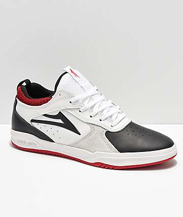 Lakai Proto Tony Hawk Black, White & Red Skate Shoes