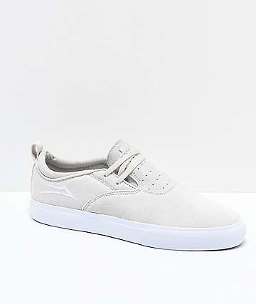 Lakai Riley Hawk II White Suede Skate Shoes
