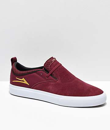 Lakai Riley Hawk II zapatos de skate de color borgoño