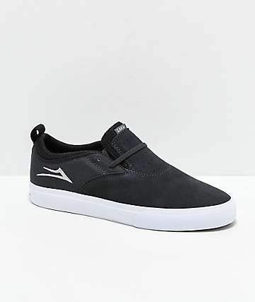 Lakai Riley II Charcoal & White Skate Shoes