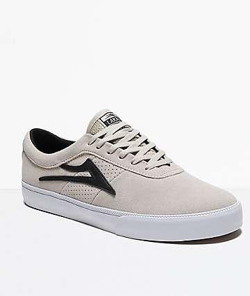 Lakai Sheffield White & Black Suede Shoes
