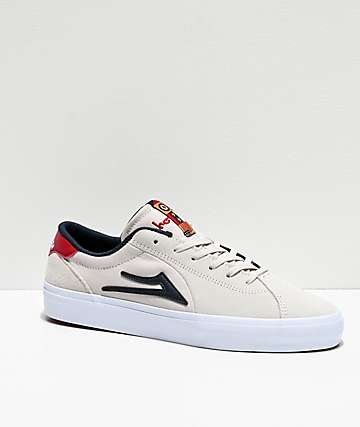 Lakai x Chocolate Flaco II White Suede Skate Shoes