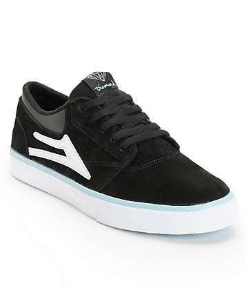 Lakai x Diamond Supply Griffin Black & White Suede Skate Shoes