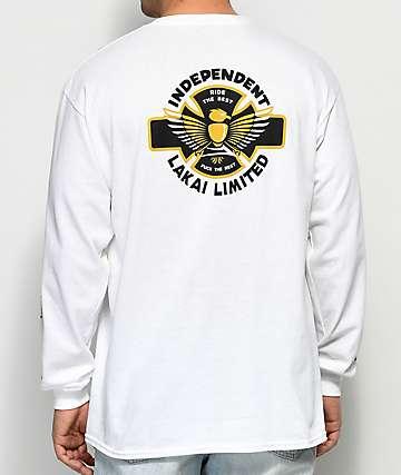Lakai x Independent camiseta blanca de manga larga