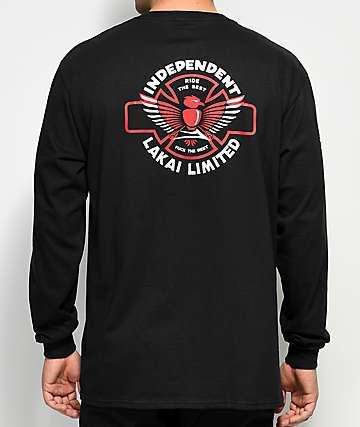 Lakai x Independent camiseta negra de manga larga
