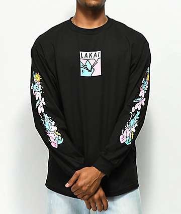 Lakai x Leon Karssen Box Black Long Sleeve T-Shirt