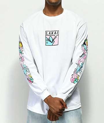 Lakai x Leon Karssen Box White Long Sleeve T-Shirt