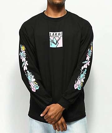 Lakai x Leon Karssen Box camiseta negra de manga larga