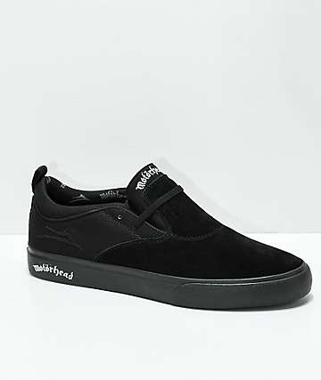 Lakai x Motorhead Riley II Black Skate Shoes