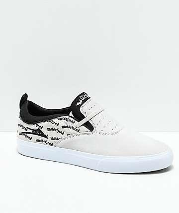 Lakai x Motorhead Riley II zapatos skate en blanco y negro