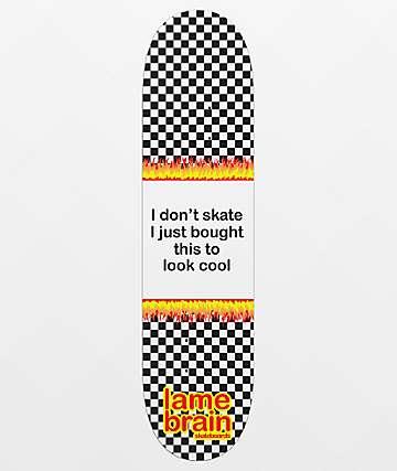 "Lamebrain Poser Pink 8.25"" Skateboard Deck"