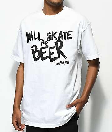Lamebrain Skate Bum White T-Shirt