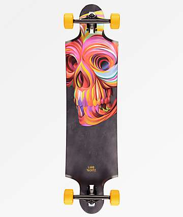 "Landyachtz 10 Two 4 Skull 38.75"" Drop Through longboard completo"