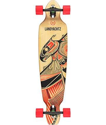 "Landyachtz Bamboo Battle Axe 40""  Drop Through Longboard Complete"