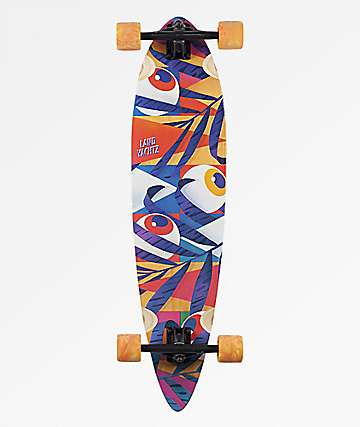"""Landyachtz Bamboo Chief Eyes 8.75"""" Pintail Longboard Complete"""