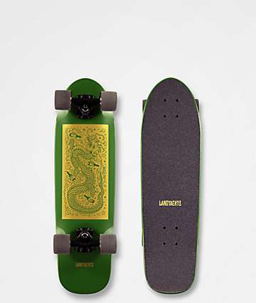 "Landyachtz Dinghy Dragon 28.5"" Green Cruiser Complete"