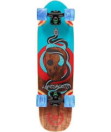 """Landyachtz Dinghy Skull 28.5"""" cruiser skateboard completo"""